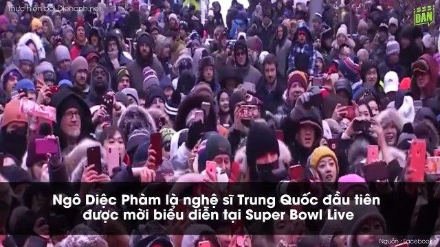 Ngô Diệc Phàm - nghệ sĩ Trung Quốc đầu tiên được biểu diễn tại Super Bowl