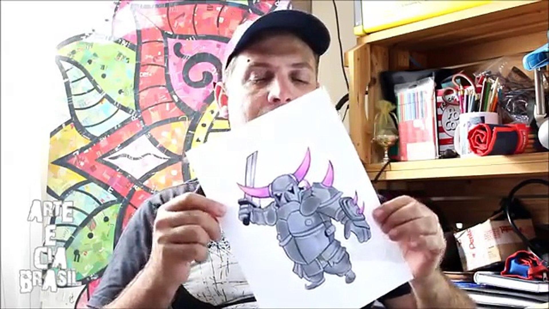 Como Desenhar Pekka Do Clash Royale Passo A Passo 479