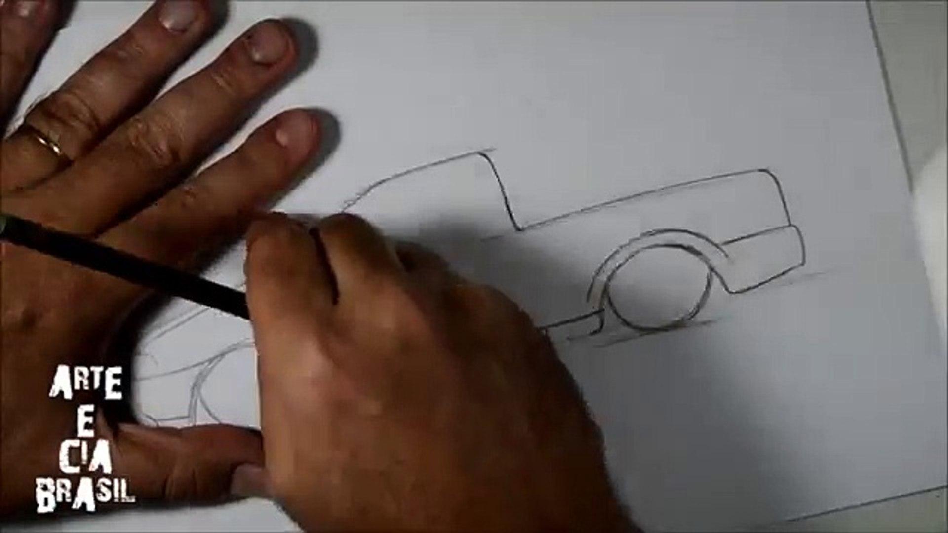 Como Desenhar Saveiro Rebaixada Passo A Passo Video Dailymotion