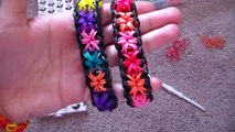 Como Hacer Pulcera de Gomitas en:Estrellas,Parte 1 - / How to make the rainbow loom: starburst