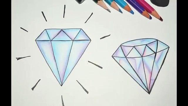 Como Desenhar Diamantes Simples Passo A Passo