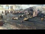 Fire in truck carrying Gas Cylinder in Bijnor Uttar Pradesh