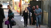 Pregnant Miranda Kerr Flaunts Her Baby Bump And Legs At Jimmy Kimmel Live