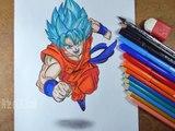 Desenhando Goku Super Saiyan God Super Saiyan - SSGSS em 3D - Drawing Goku Super Saiyan in 3D