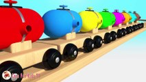 Learn Colors With Balloons Balls Trains Balls for Children - Street Vehicles Thomas Train For Kids