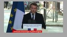 """Emmanuel Macron s'adresse à la famille Érignac """"La justice de la République sera rendue sans complaisance, sans oubli, sans amnistie."""""""