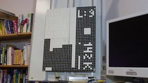 Jouez à Tetris sur un écran à pixels Géants !! vive le vintage lol