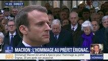 À Ajaccio, Emmanuel Macron observe une minute de silence en hommage au préfet Érignac, 20 ans après son assassinat