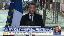 """""""La Corse a été salie par ce crime."""" L'hommage d'Emmanuel Macron au préfet Érignac, assassiné il y a 20 ans"""