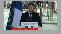 """Emmanuel Macron s'adresse à la famille Érignac : """"Par votre courage et votre dignité, vous avez sauvé la Corse de ses démons."""""""