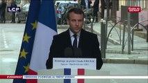 REPLAY. Le discours d'Emmanuel Macron en hommage à l'assassinat du préfet Erignac