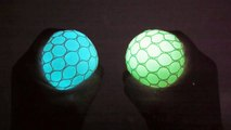 DIY How To Make Colors Glow in the dark Balloons Slime Squishy Stress Ball Learn Colors Slime Clay