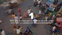 Acidentes de trânsito matam 1,25 milhão de pessoas no mundo por ano