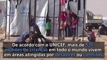 535 milhões de crianças vivem em países afetados por conflitos ou desastres