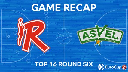 7Days EuroCup Highlights Top 16, Round 6: Reggio Emilia 75-68 ASVEL