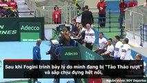 Chuyện bi hài chưa từng có: Tay vợt Tennis nổi tiếng bỏ thi đấu giữa chừng vì…tào tháo rượt