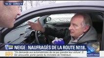 BFM TV : Yves Lecoq bloqué par la neige