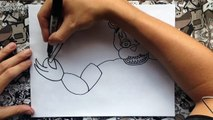 Como dibujar a nightmare freddy de five nights at freddys | how to draw nightmare