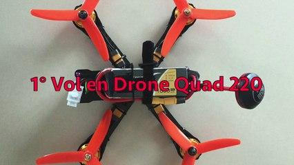 Vol drone Quad 220 pour FPV
