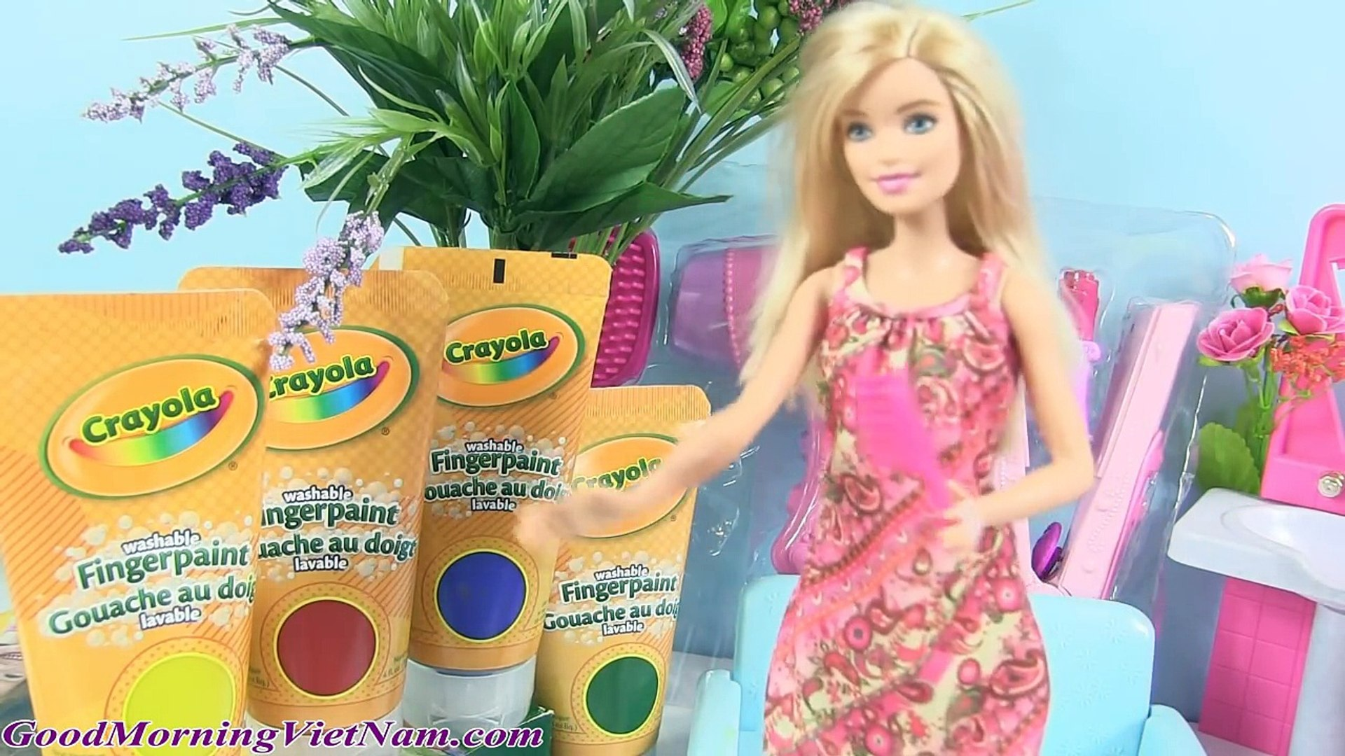 Barbie Chelsea Nhuộm Tóc Đỏ - Đồ Chơi Trẻ Em Tiệm Tóc Barbie
