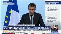 """Emmanuel Macron est """"favorable à ce que la Corse soit mentionnée dans la Constitution"""""""