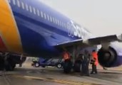 Plane Skids Sideways on Taxiway Before Departing Baltimore Airport