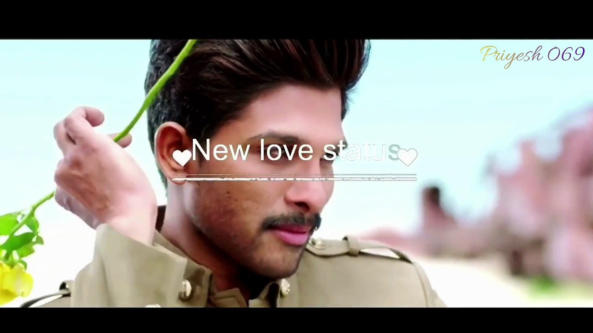 Allu Arjun full romantic WhatsApp status video | WhatsApp status only 40  sec with romantic song | priyesh069