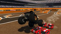 BeamNG.drive - Monster Truck Crashes, crushing cars, jumps, fails #3