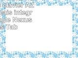 DURAGADGET Etui noir 7 POUCES  clavier AZERTY français intégré pour Google Nexus 7 Asus