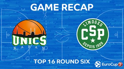 7Days EuroCup Highlights Top 16, Round 6: UNICS 88-78 Limoges