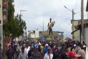 Protesta de pescadores reclamando más seguridad para sus faenas en Santa Elena