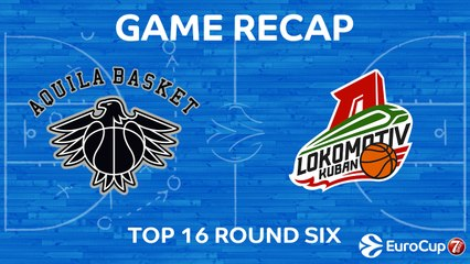 7Days EuroCup Highlights Top 16, Round 6: Trento 71-74 Lokomotiv