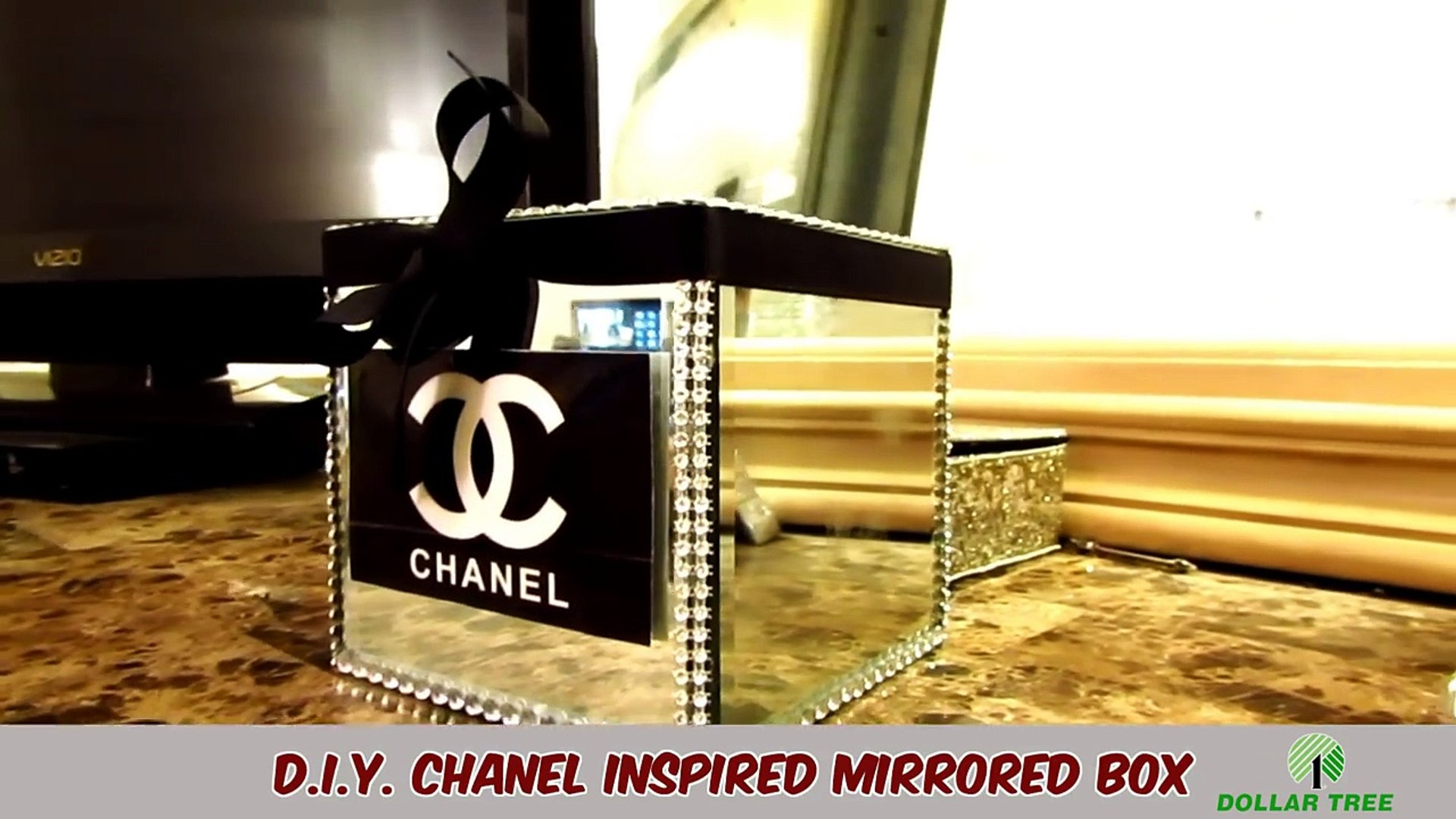 D I Y Chanel Inspired Mirrored Box Dollar Tree Video Dailymotion