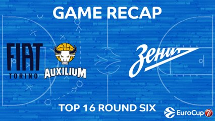 7Days EuroCup Highlights Top 16, Round 6: Fiat Turin 73-87 Zenit