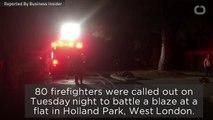 80 Firefighters Battle London Blaze