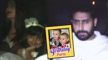 Aishwarya & Abhishek With Aaradhya At Karan Johar's Bash For Yash Roohi's Birthday Celebrationradhya At Karan Johar's bash for Yash Roohi's Birthday Celebration-Triparna_ARP-Showbizz
