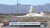ADOT blasting land for South Mountain Freeway