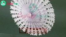 Paper Snowflakes Hanging Decorations - How to Make 3D Paper Snowflakes Easily