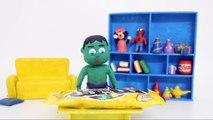 Baby Hulk vs Giant M&M Candy Stop Motion #p | Superhero Play Doh Stop Motion Animation mvies