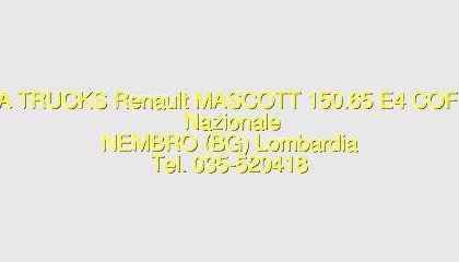Renault MASCOTT 150.65 E4 COFI Usato