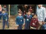 school bus collided with a truck in bareilly, children injured