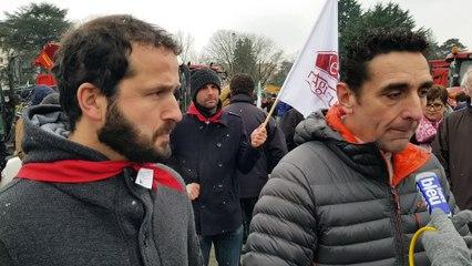 Pourquoi les agriculteurs manifestent à Pau ? Les explications de Bernard Layre et Iban Pebet