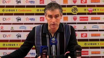 Conférence de presse d'Olivier Dall'Oglio avant DFCO-OGC Nice