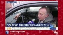 BFM TV tombe par hasard sur Yves Lecoq, coincé par les intempéries !
