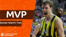 Turkish Airlines EuroLeague Regular Season Round 22 MVP: Jan Vesely, Fenerbahce Dogus Istanbul