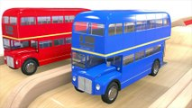 Learning Colors with Bus double decker Toy Colors for Kids to Learn with Street Vehicles