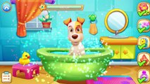 Fun Puppy Animals Care - Baby Learn Puppy Doctor, Bath, Dressup With Puppy Life - Secret Pet Party