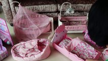 Baby Dolls Nursery Center Bedroom Toys Dolls Bed Cradle Sleeping Bag Baby Annabell Bedtime