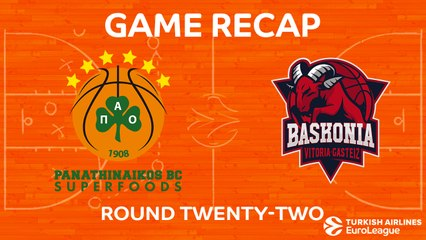 EuroLeague 2017-18 Highlights Regular Season Round 22 video: Panathinaikos 80-76 Baskonia