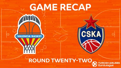 EuroLeague 2017-18 Highlights Regular Season Round 22 video: Valencia 103-99 CSKA